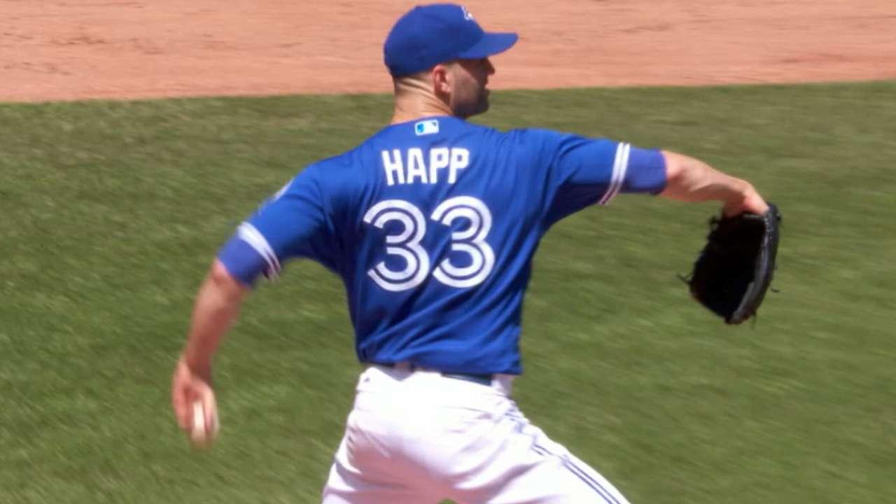 Happ honing 'explosiveness' in workouts