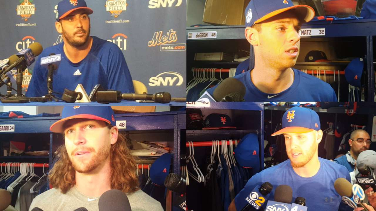 Mets' pitchers excited for 2017