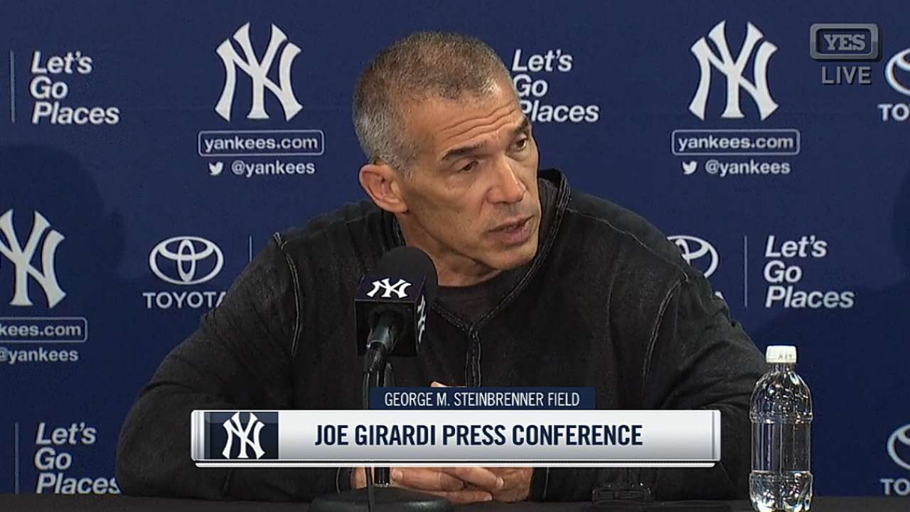 Girardi on team goals for 2017