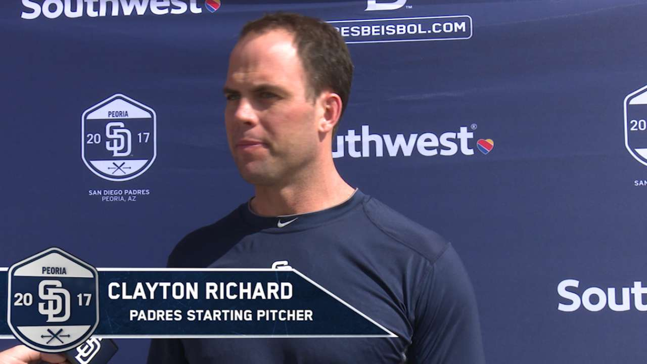 Padres' Richard has endured bumpy ride