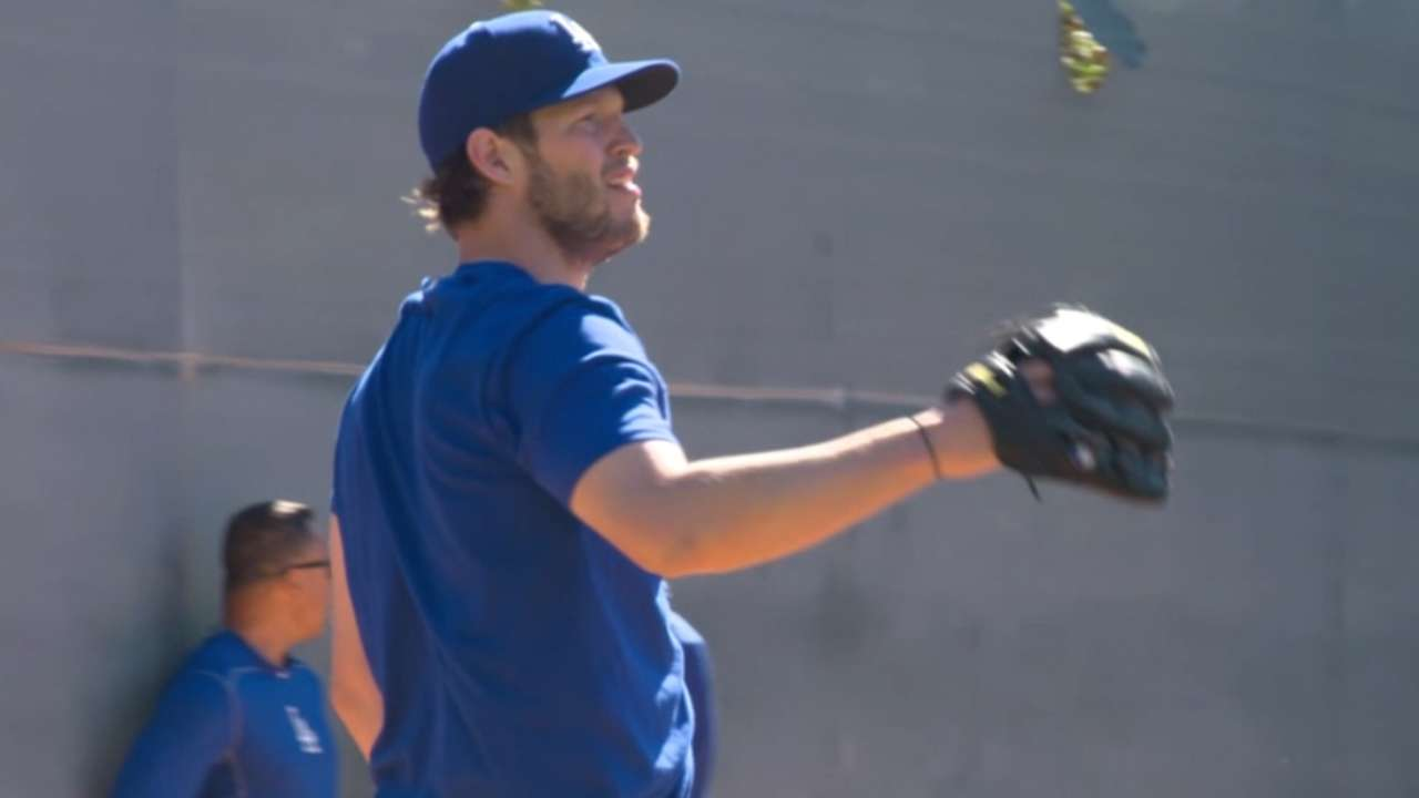 Kershaw, Wood look sharp throwing live BP