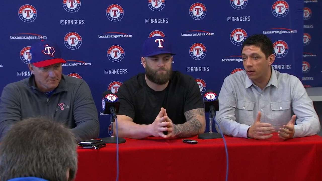 Welcome back, Nap: Slugger introduced by Rangers