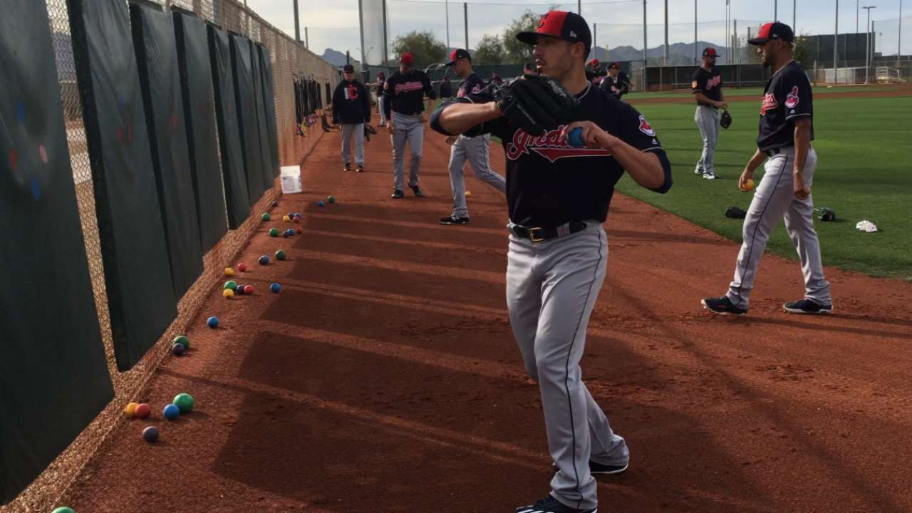 Weighted-ball workouts on rise at Tribe camp