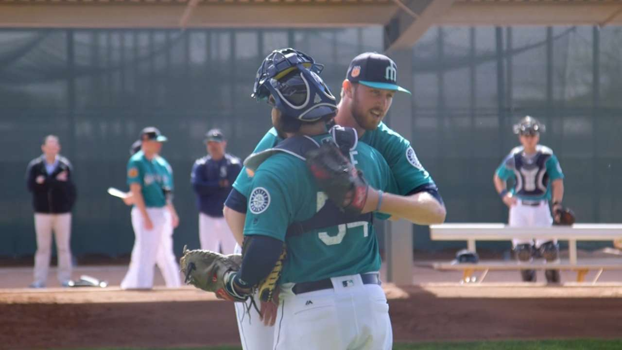 Young pitchers open eyes in early workouts