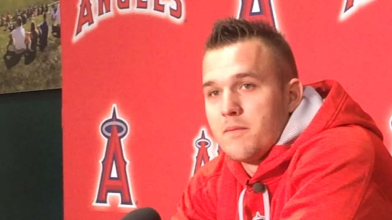 Trout lands with personal, team goals in mind