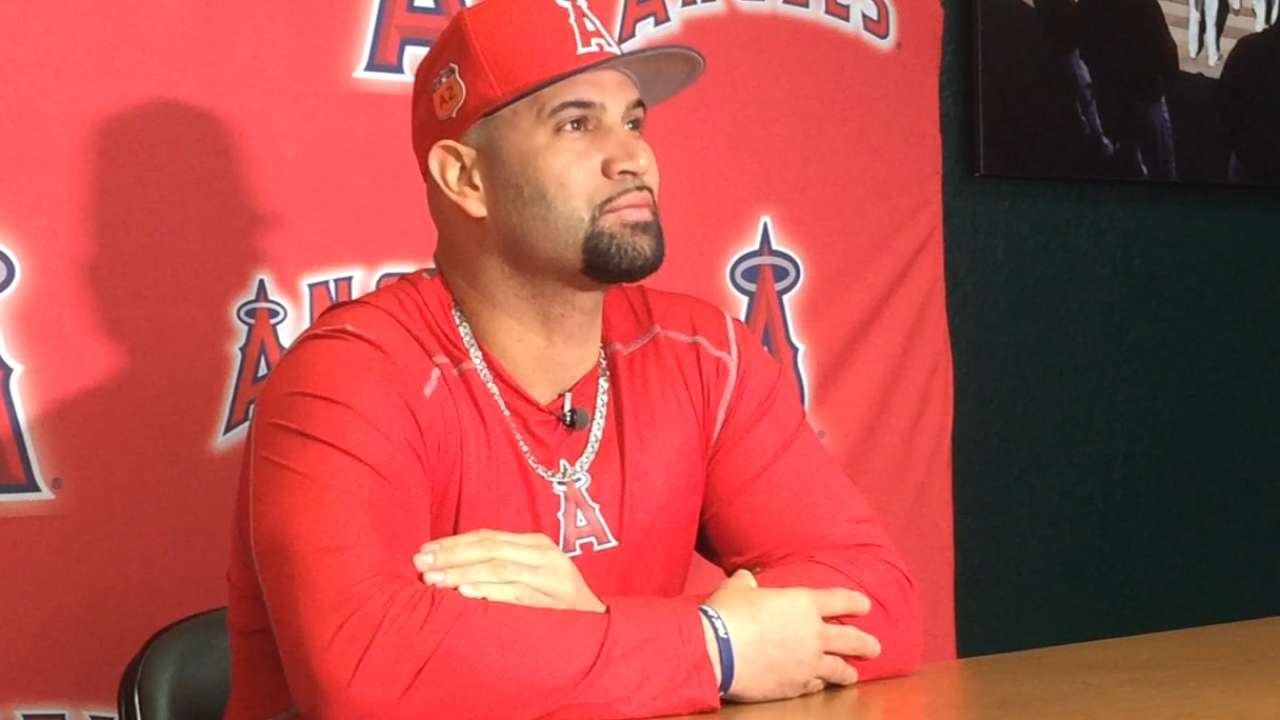 Pujols happy with progression, ready to run