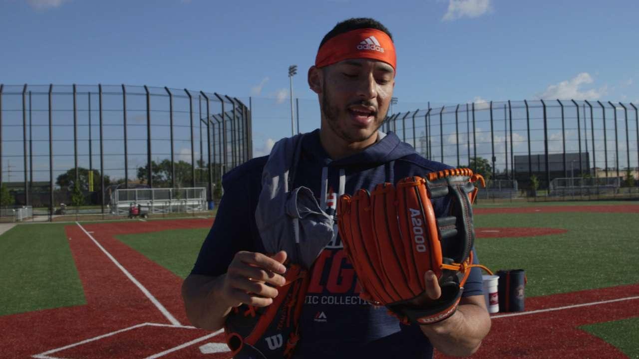 Correa on his new glove