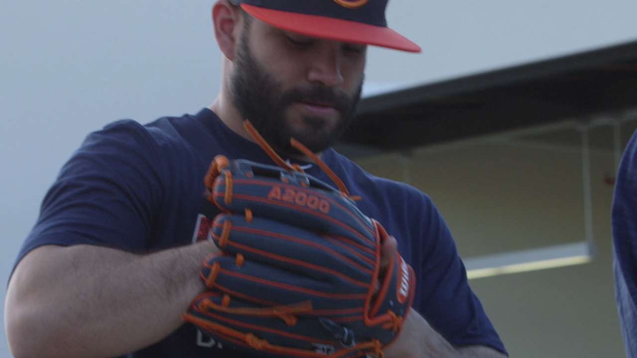 Altuve on his custom glove