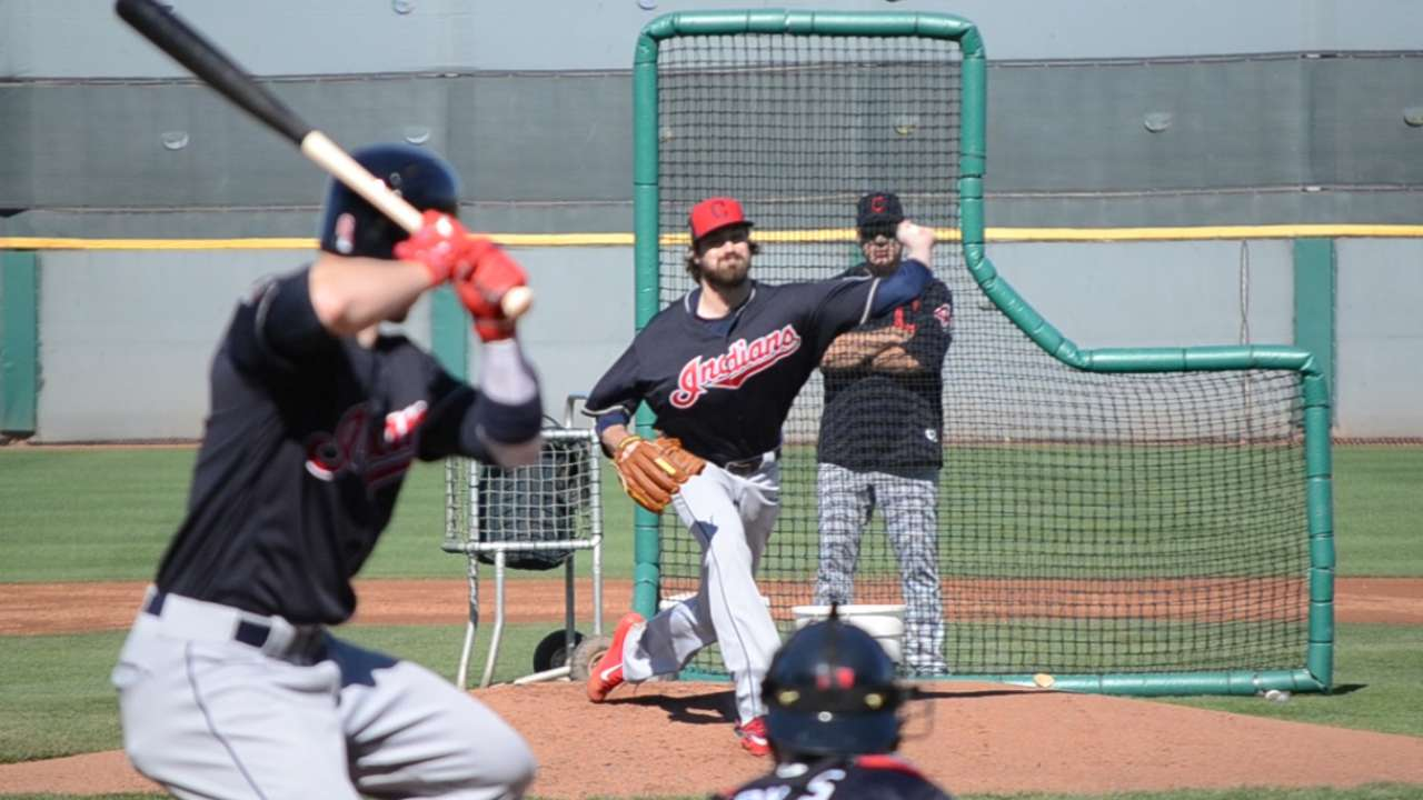 Miller's first live BP draws respect from teammates