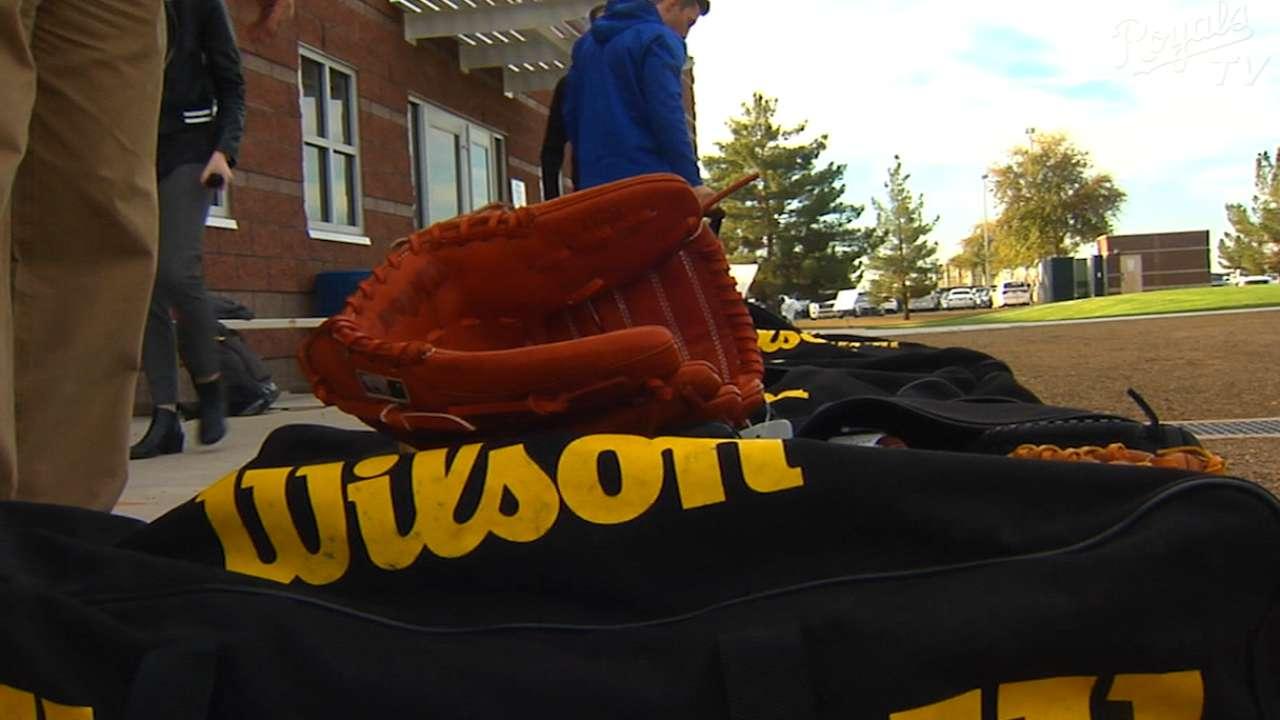 Glove Day at Royals camp