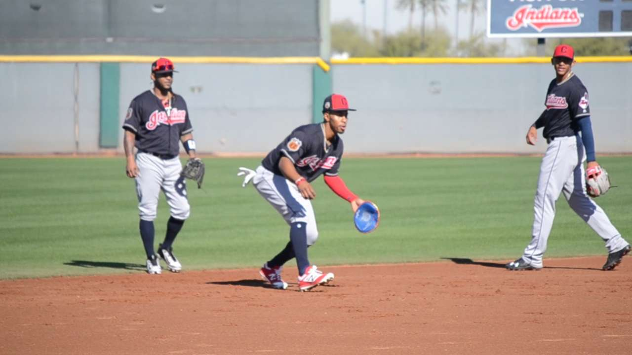 Lindor shows off 'pancake' glove