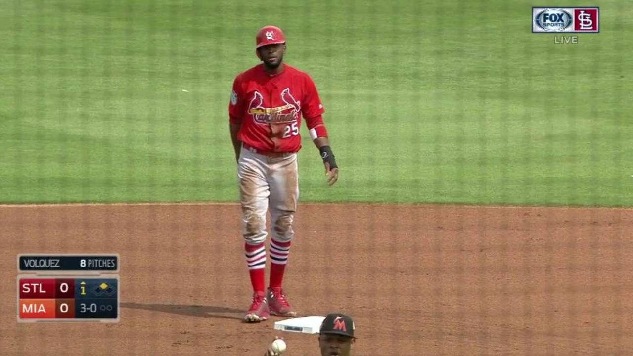 Fowler's steal in the 1st inning