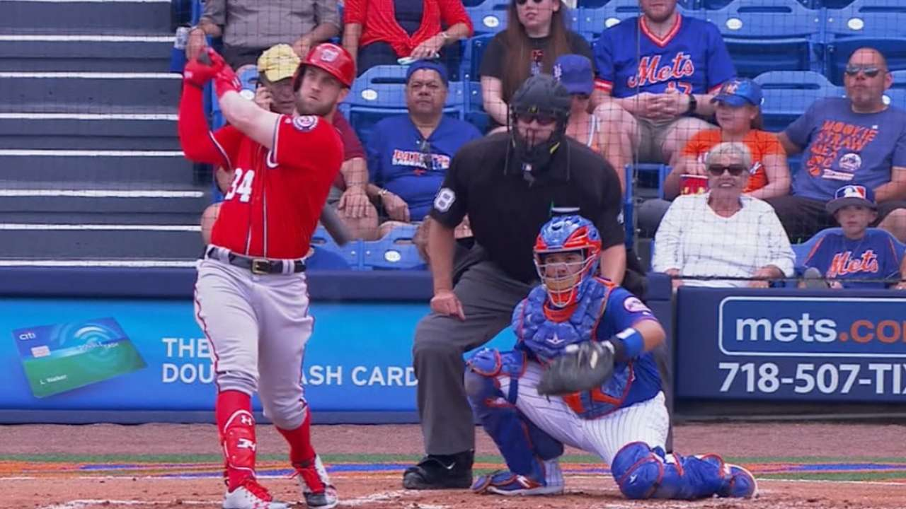 Bryce is right: Harper homers in 1st spring AB