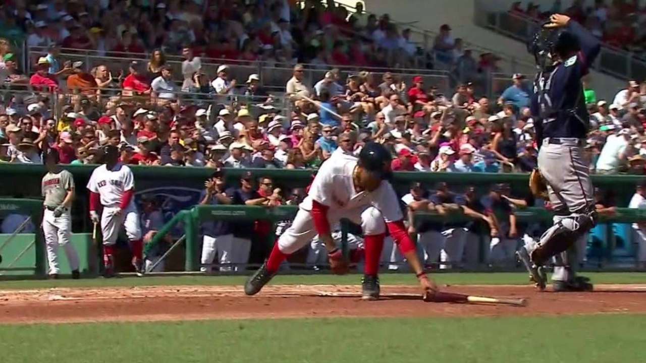 Betts notches two hits, scores twice in debut