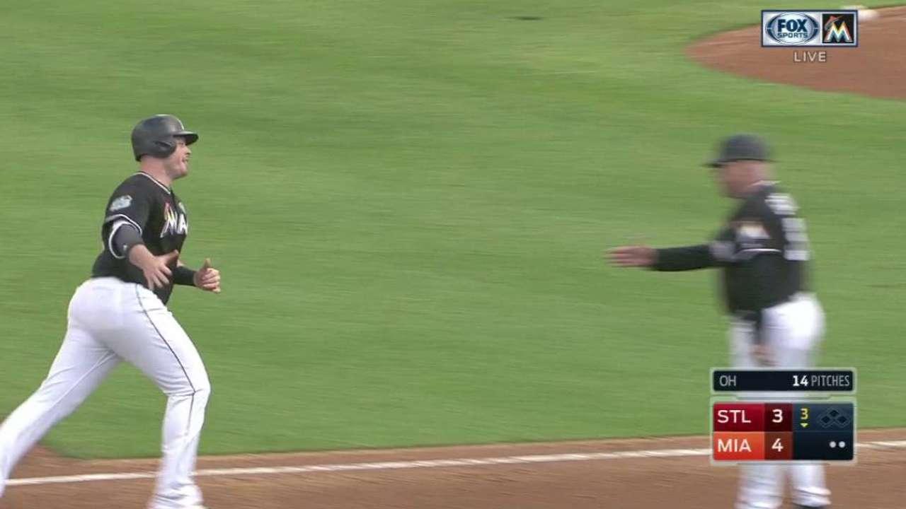 Bour's solo home run to right