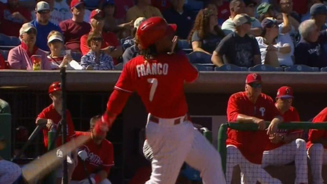 Must C: Franco rounds the bases