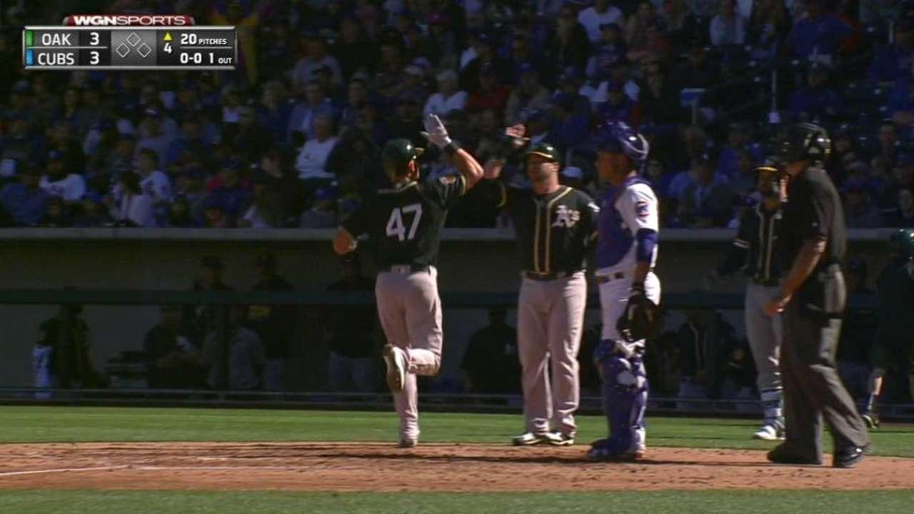 Chapman's two-run homer
