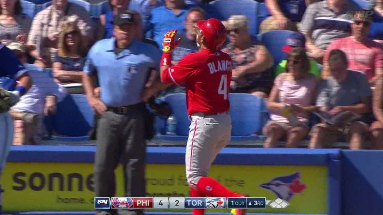 Blanco's solo home run
