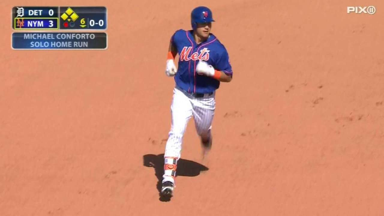 Mike zone: Conforto's HR, 2 runs pace Mets