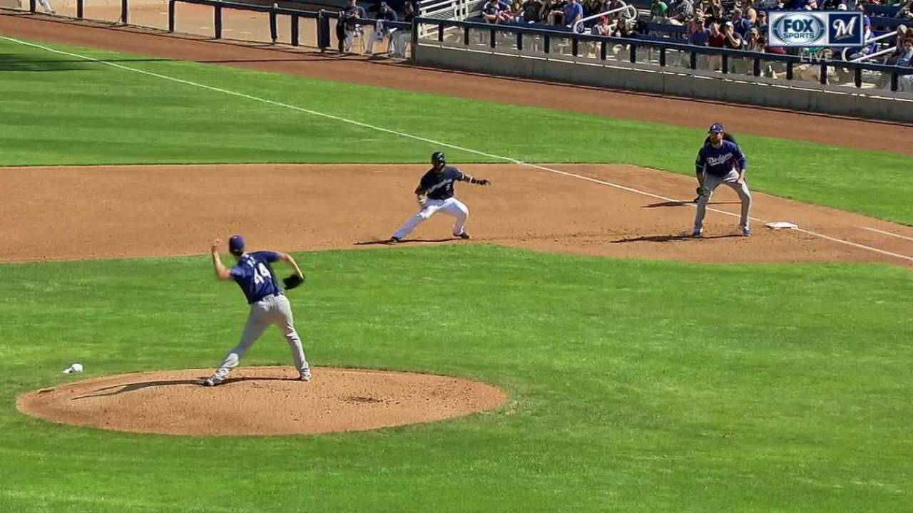 Hill's pickoff in the 1st