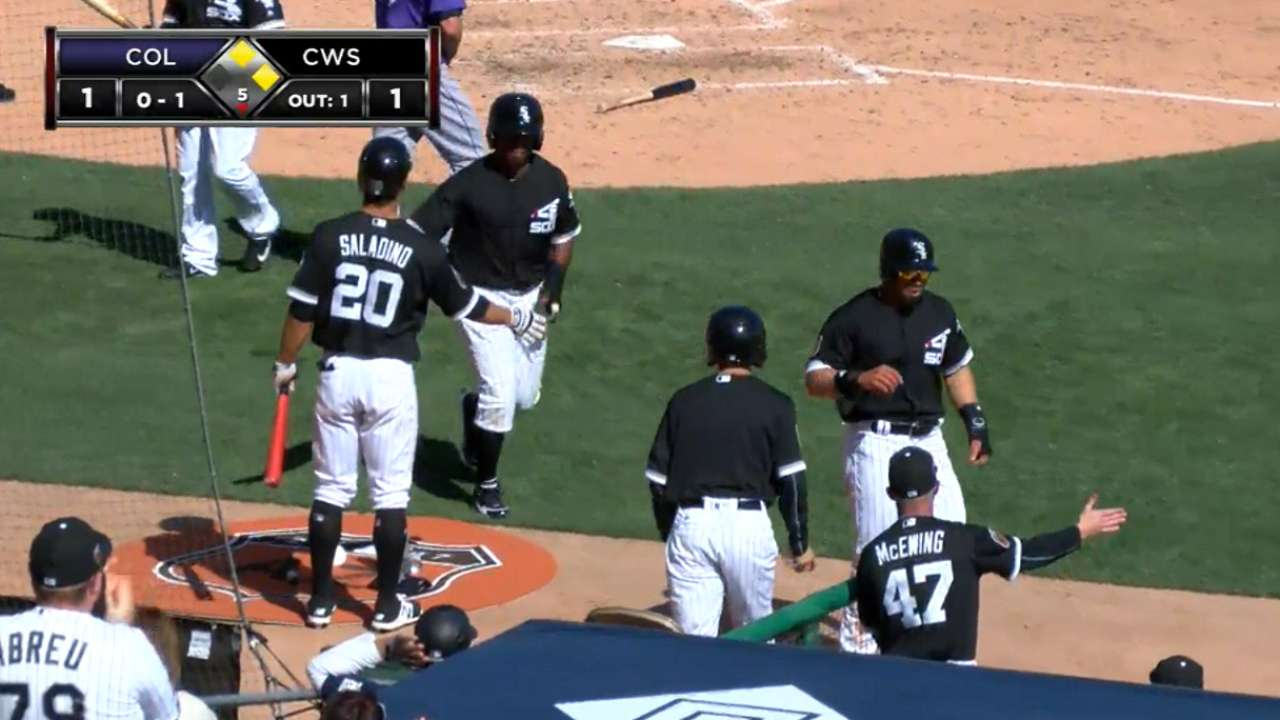 White Sox score two in 5th