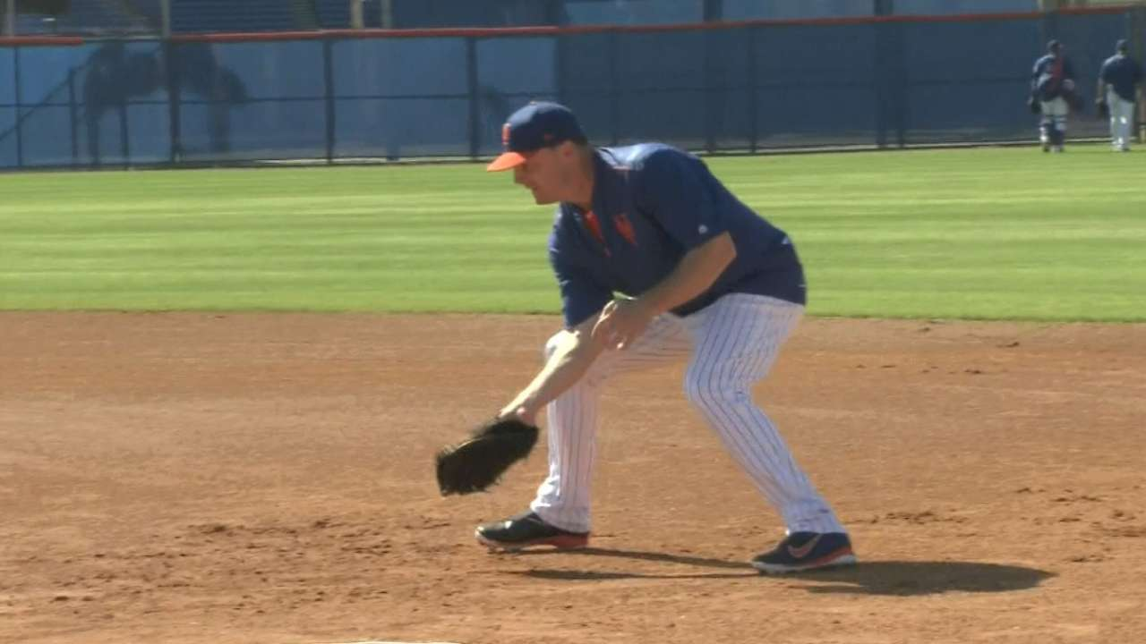 Collins on Bruce at first base
