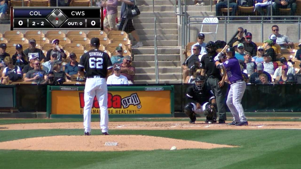 Asche gets White Sox started in Quintana's debut