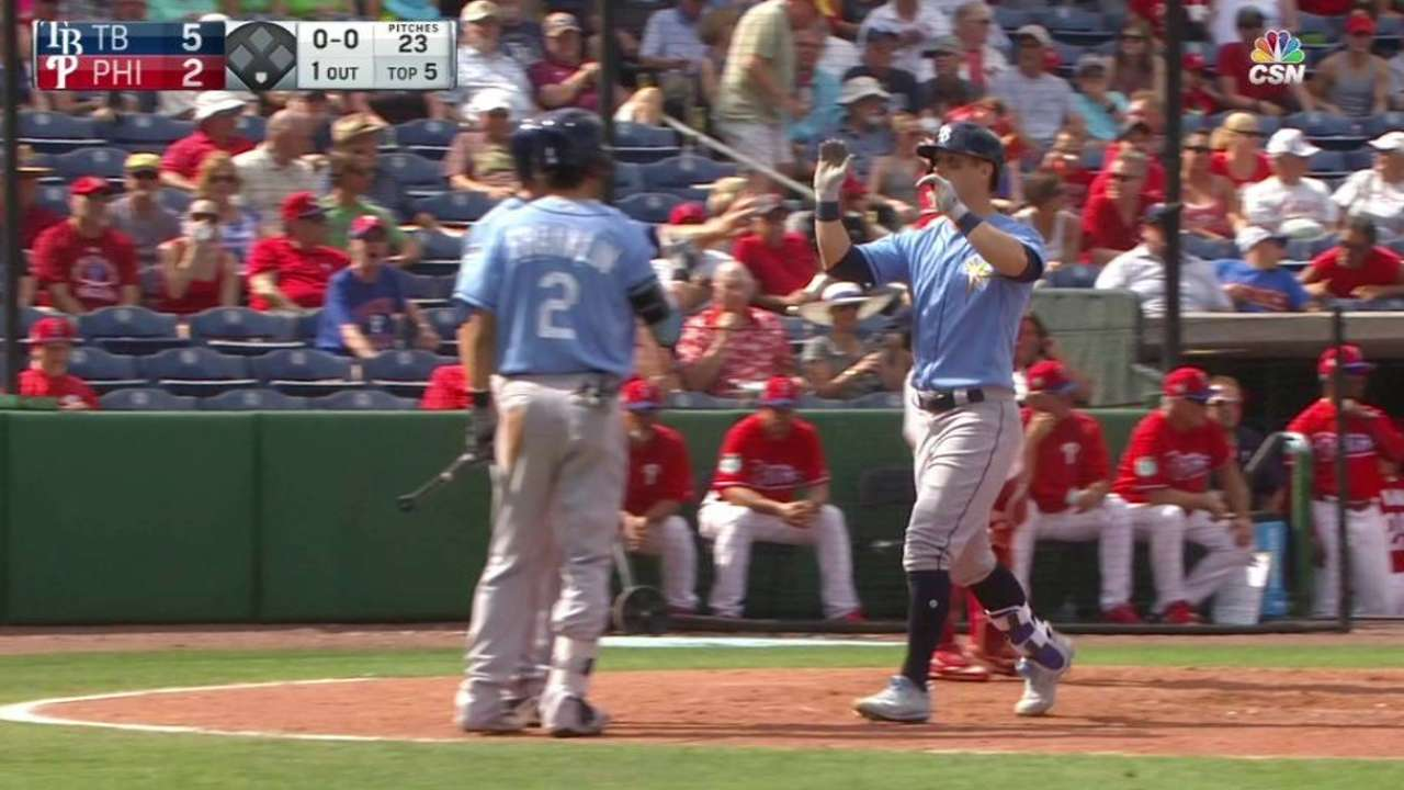 Dickerson, Peterson hit first spring homers
