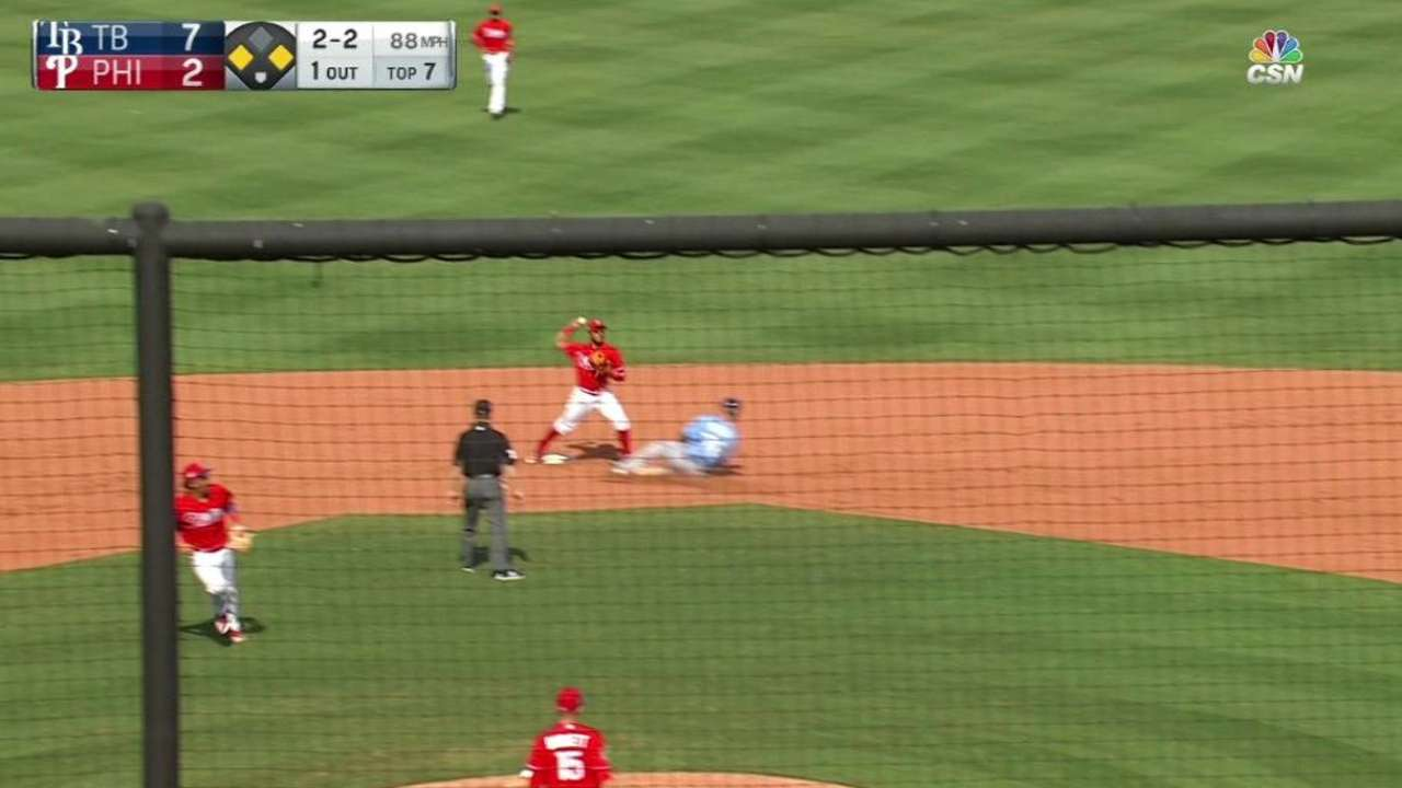 Phillies trying prospect Crawford at third