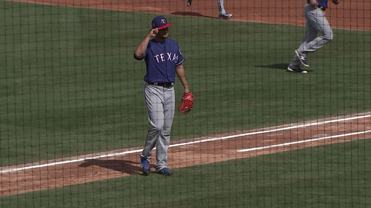 Darvish makes spring debut