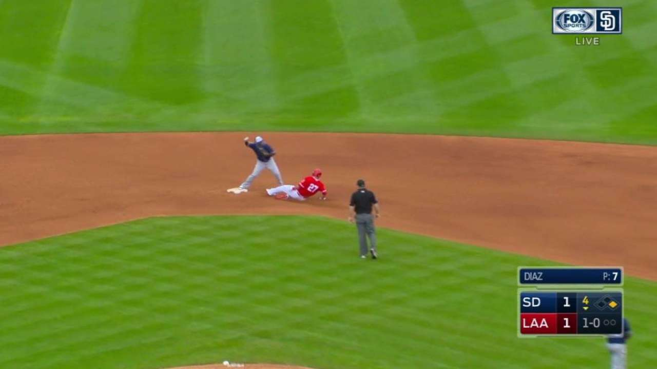 Asuaje begins a nice double play
