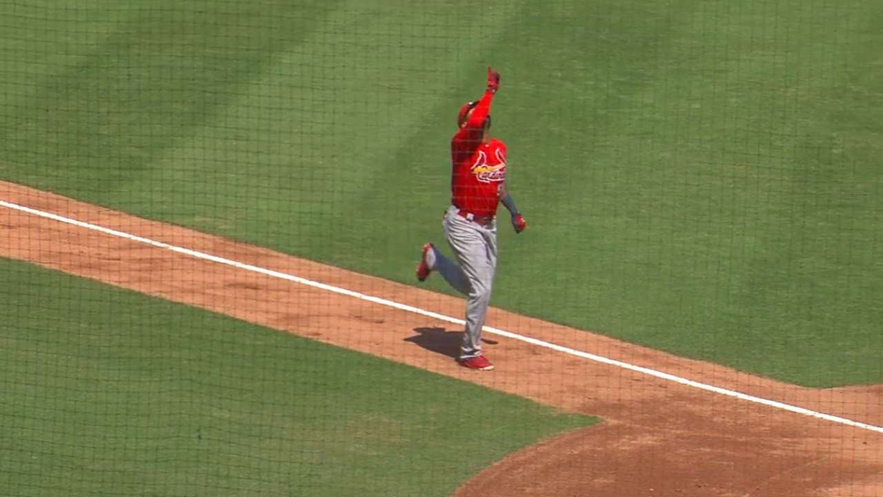 Cards' J. Martinez hits 2 HRs off Red Sox
