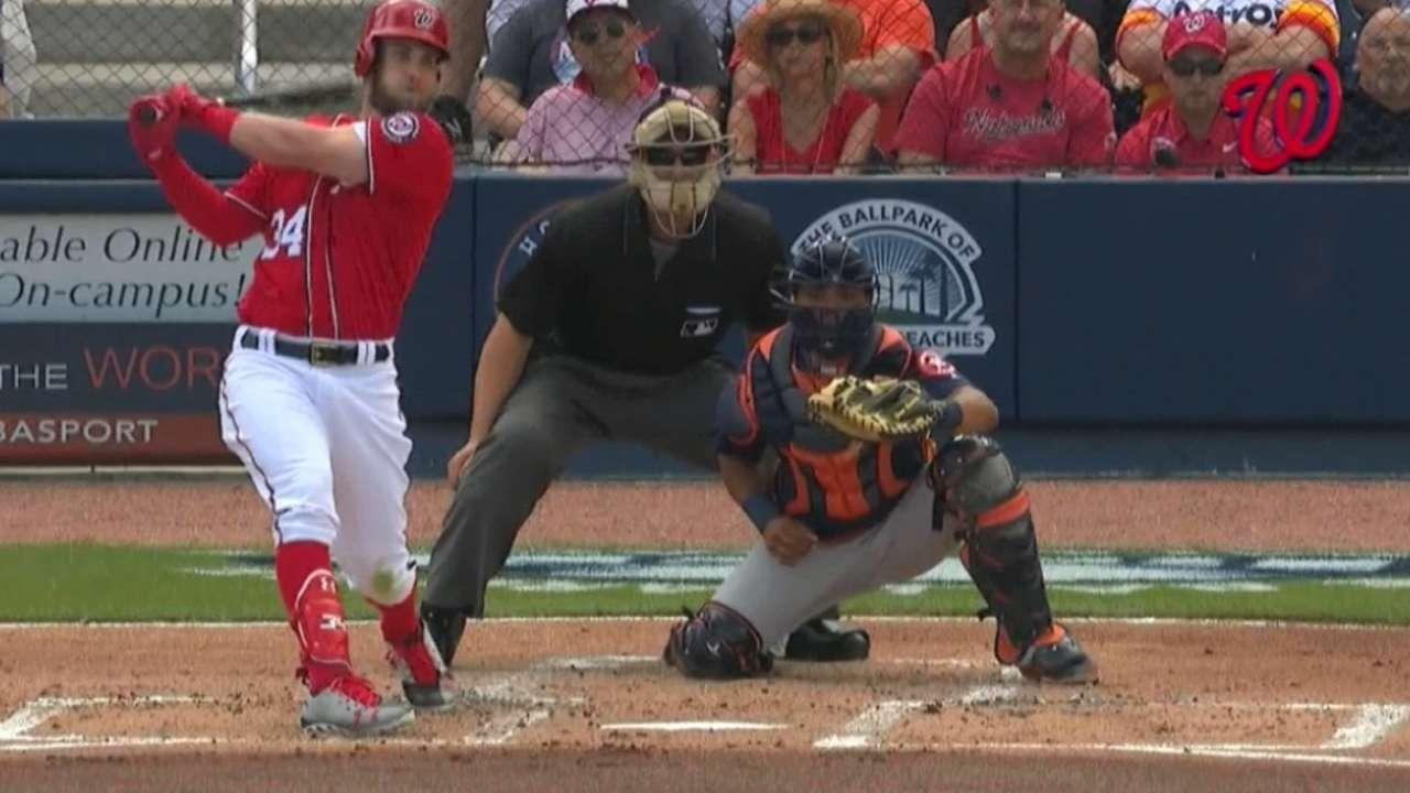 Harper's RBI double