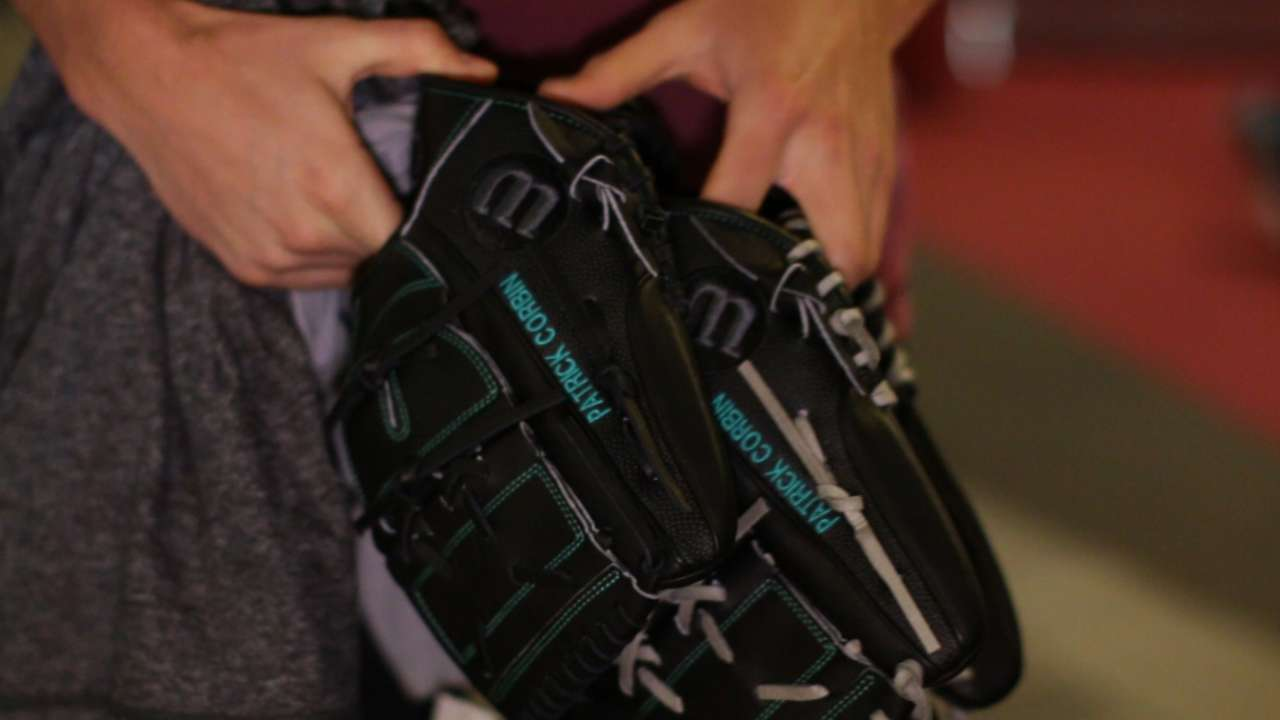 Corbin adds color to his glove