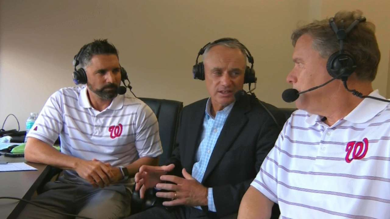 Manfred joins Nats' booth