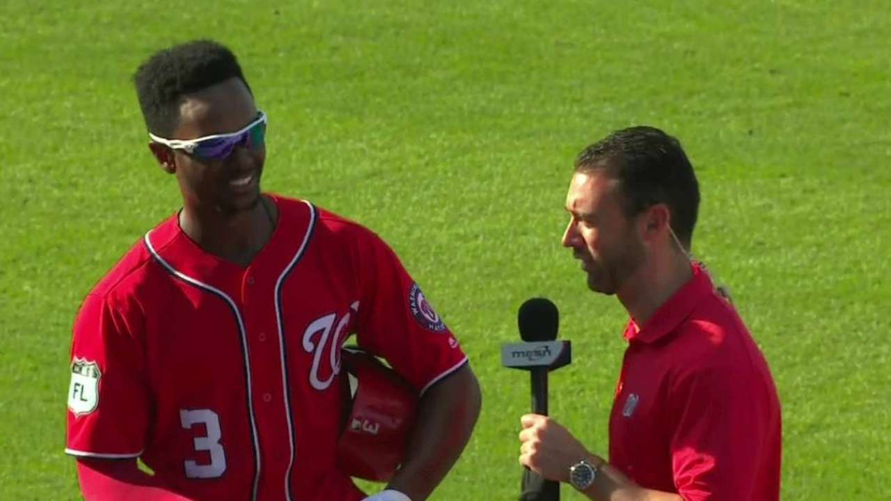 Taylor on his walk-off home run