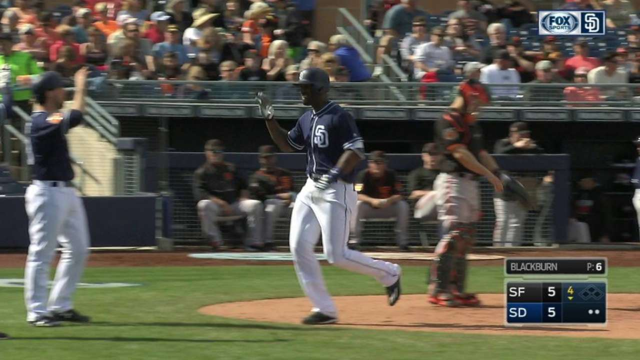 Blash drives in five to lead Padres over Giants