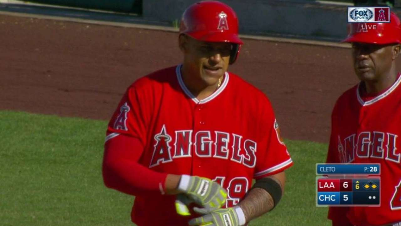 Marte clutch for Angels; Cron homers early