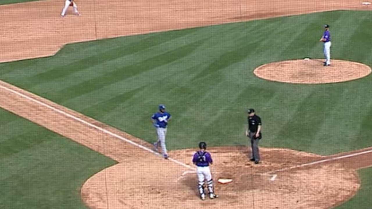 Ethier goes yard; Urias debuts vs. Rockies