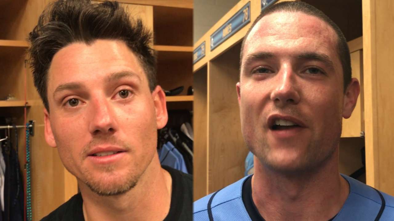 On big day for bats, Rays arms nearly perfect