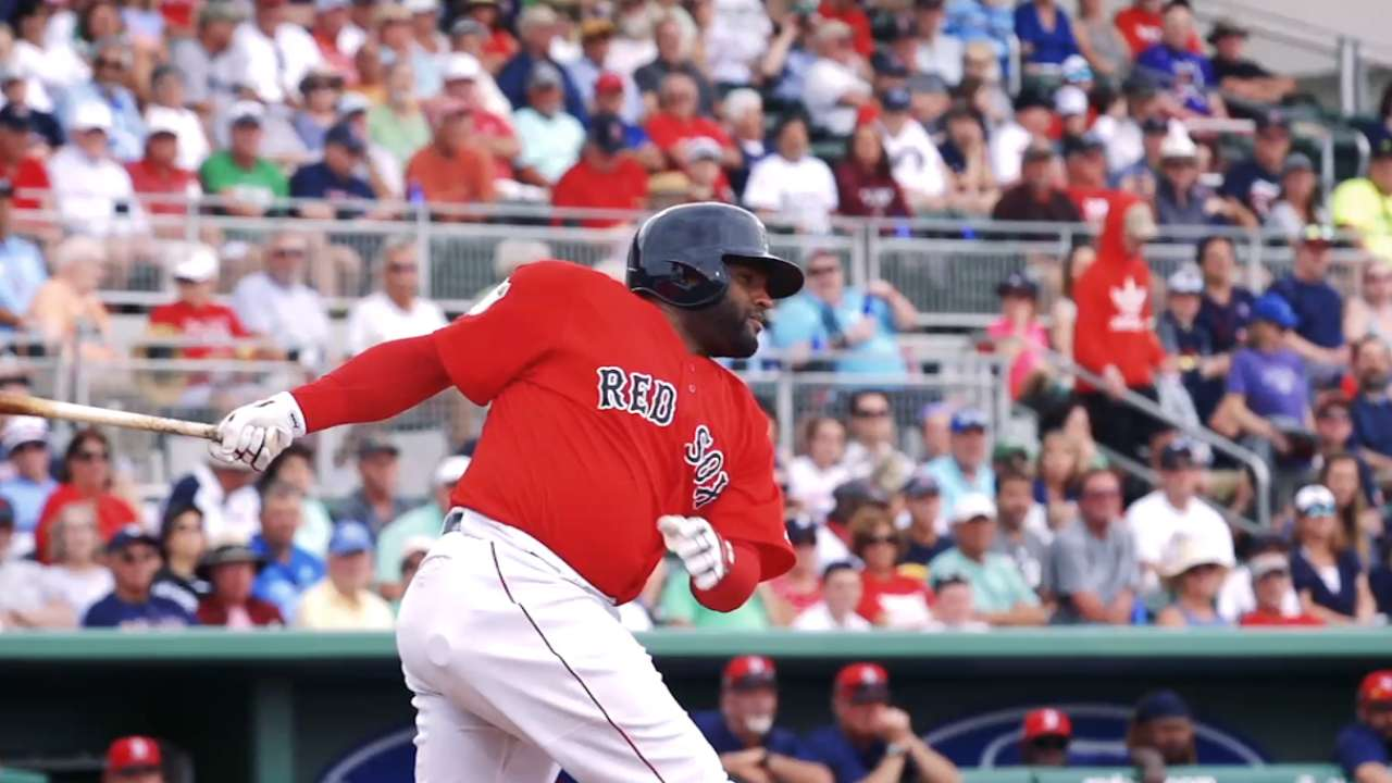 Sandoval on his 2-for-3 day