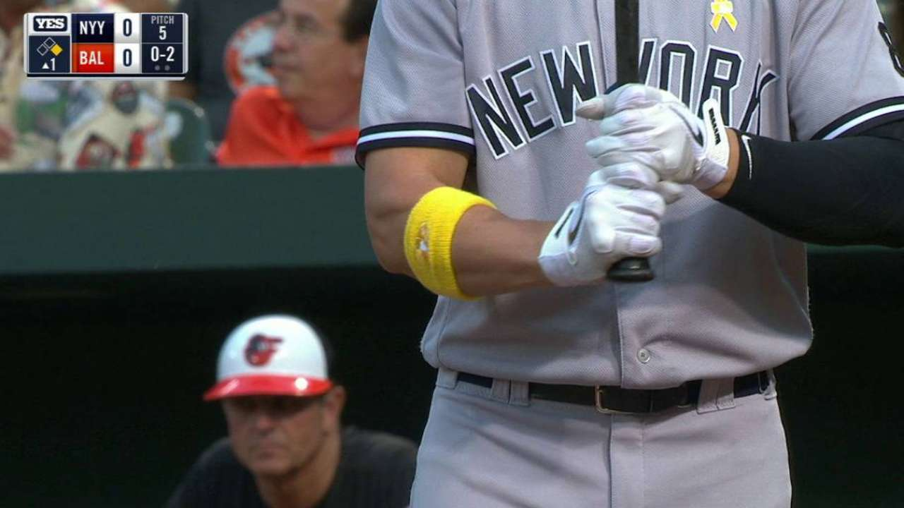 Teams sport yellow wristbands