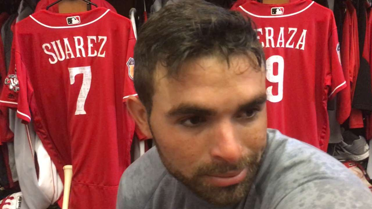 Peraza repaying Reds' confidence