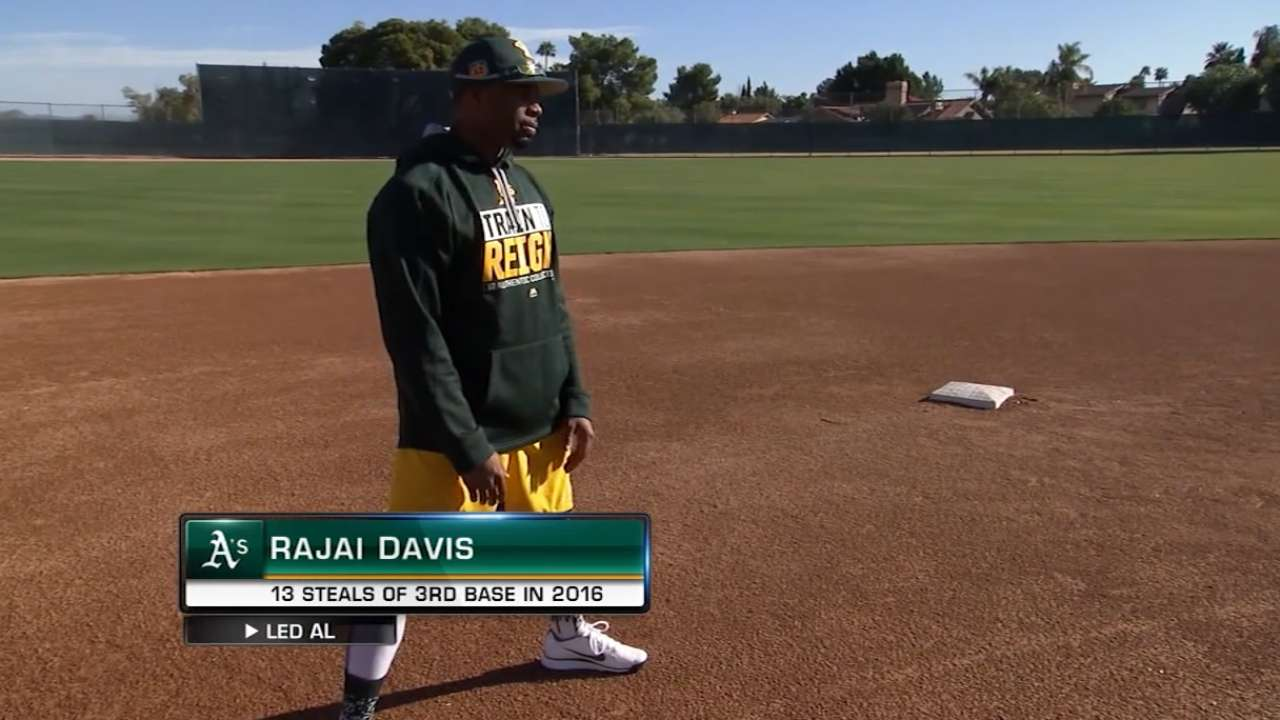 Melvin wants to see A's aggressive on basepaths