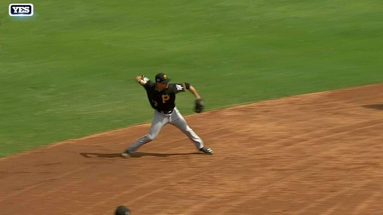 Pirates call up infielders Bostick, Moroff