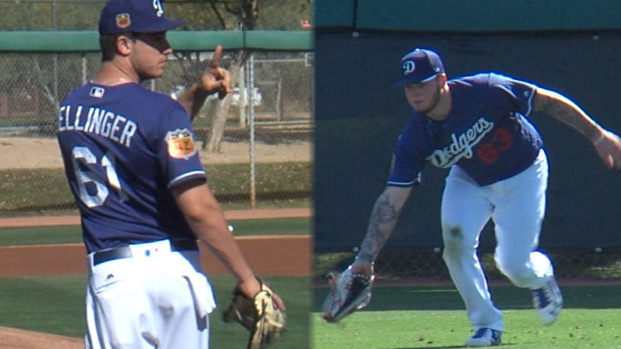 dodgers pipeline spring training report mlb com pipeline report dodgers camp