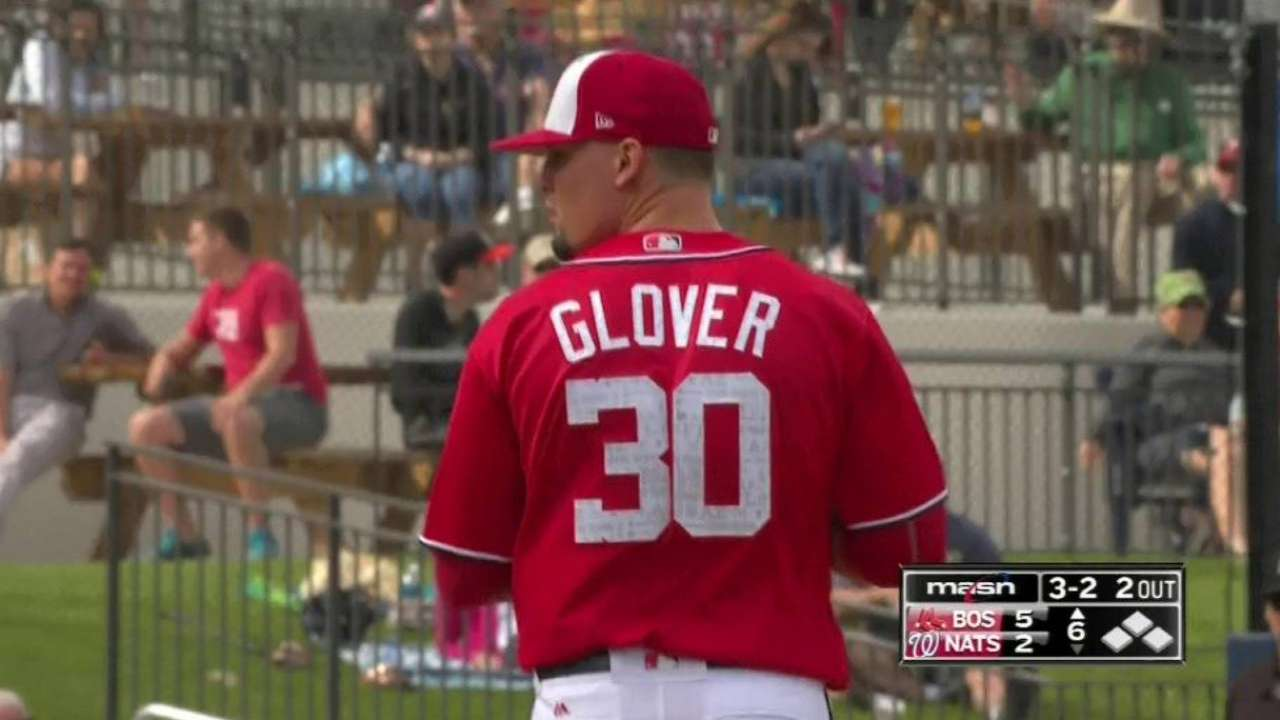 Glover strikes out the side