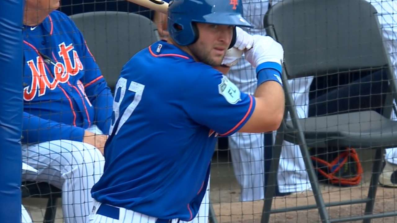 Mets on Tebow's spring debut