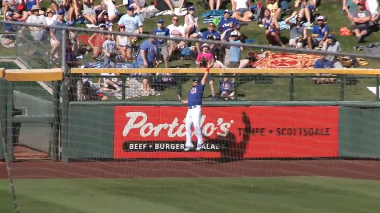 Schwarber adjusting to new spot in right field