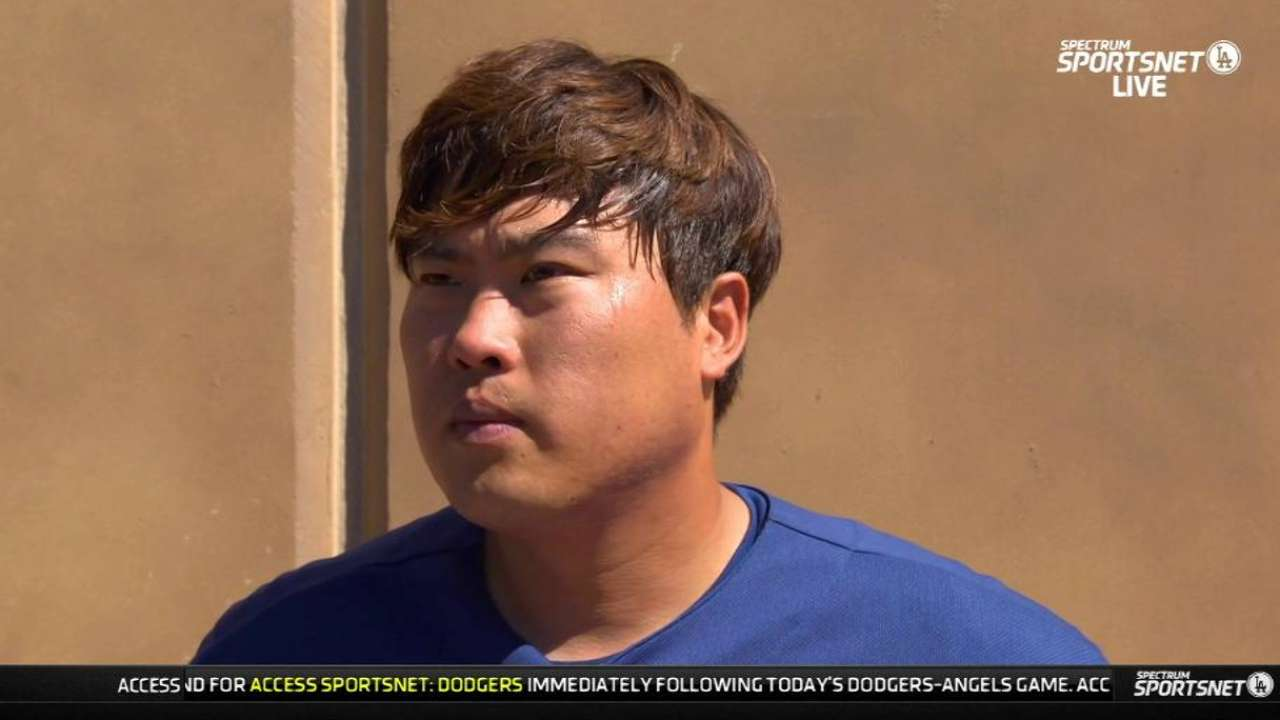 Ryu wants to build off solid Cactus League debut